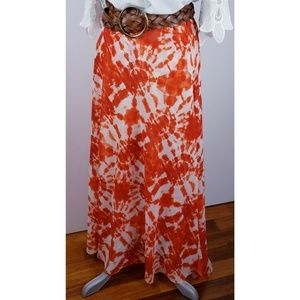 Inc. Tie Dye Pull-on Flowy Maxi Skirt | XL